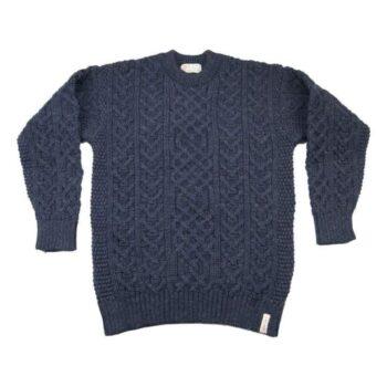 Traditional Aran Sweater Denim