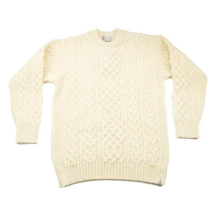 Traditional Aran Sweater Ecru