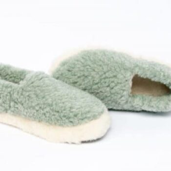 Wool Slippers Light Green