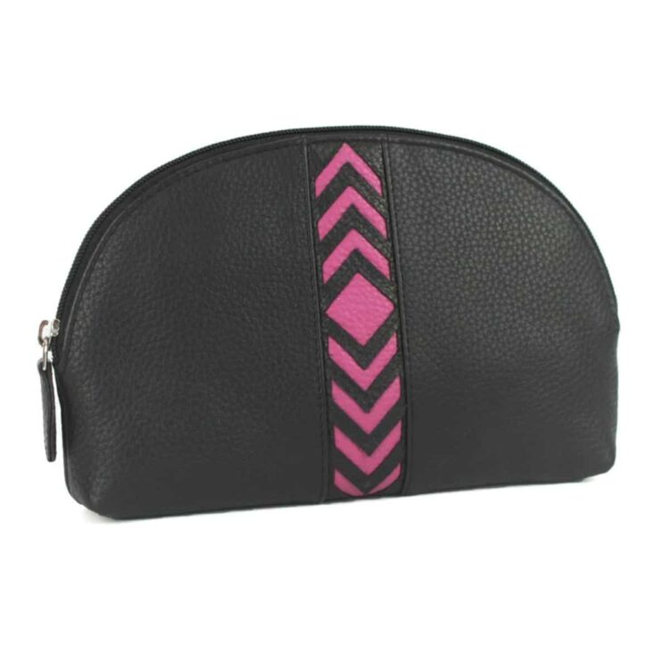 'Becky' Soft Leather Ladies Make Up Bag/holdall