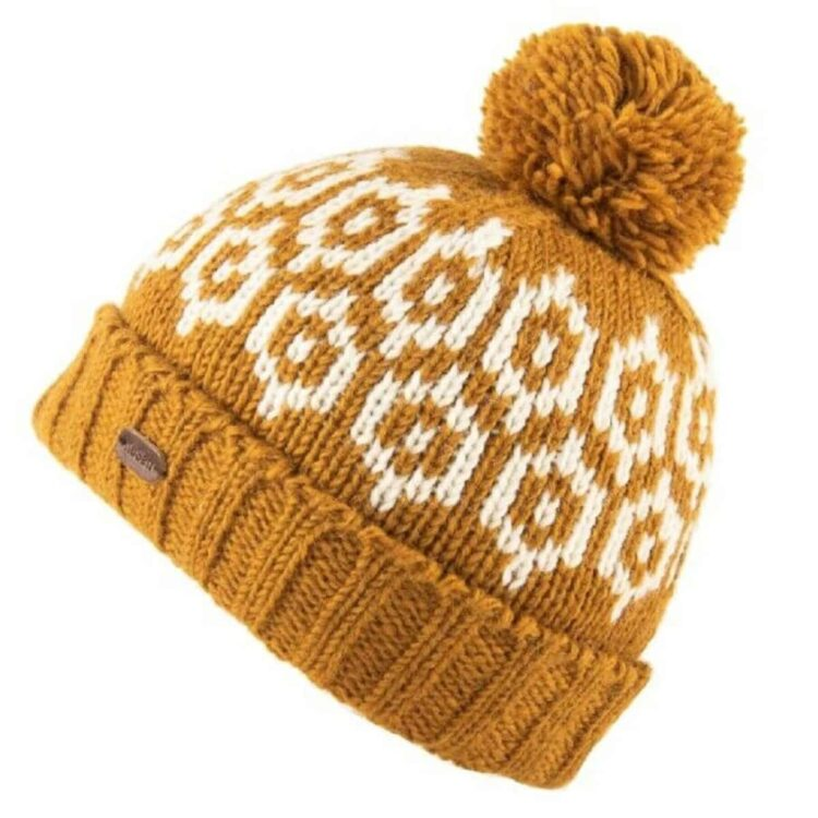 Caramel Bobble Hat