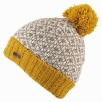 Caramel Fleur de lis Bobble Hat