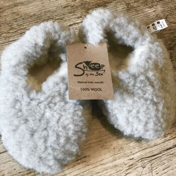 Children's Wool Slippers Pale Grey