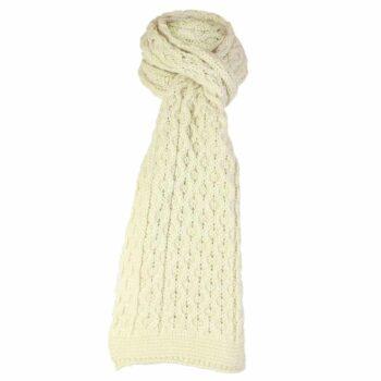 Cream Scarf, 100% British Wool