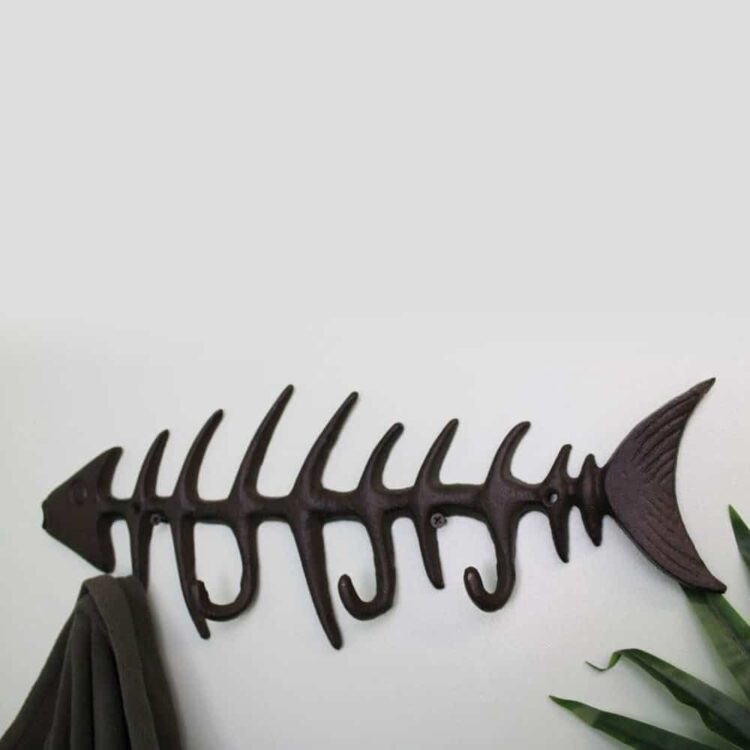 Cast Iron Wall Hooks - Fish
