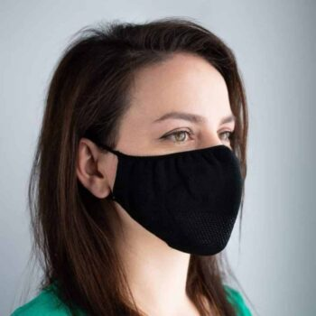 Diolen Hygienic Seamless Face Cover - Black