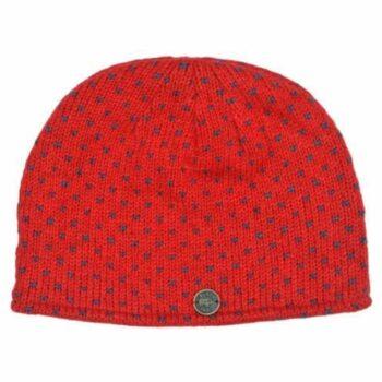 Easy tick red Beanie. 100% Wool