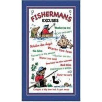 Fishermans Excuses Tea Towel