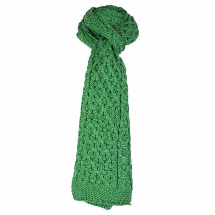 Green Scarf, 100% British Wool