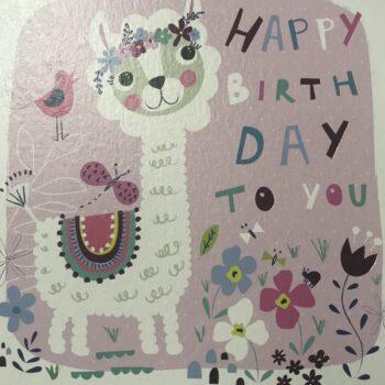 Little Llama Birthday Card