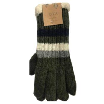 Joya Wool Blend Gloves – Green