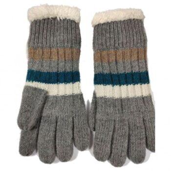 Joya Wool Blend Gloves. Grey
