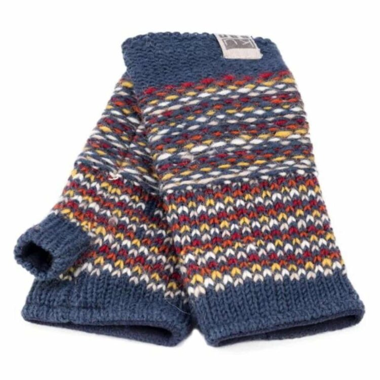 Kusan Blue orange Handwarmers 100% wool