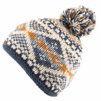 Kusan Bobble . 100% New Zealand Wool. Blue