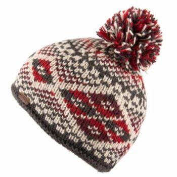 Kusan Bobble . 100% New Zealand Wool. Red.