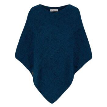 Kusan Knitted Poncho Kingfisher Blue