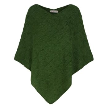 Kusan Knitted Poncho Mid Green