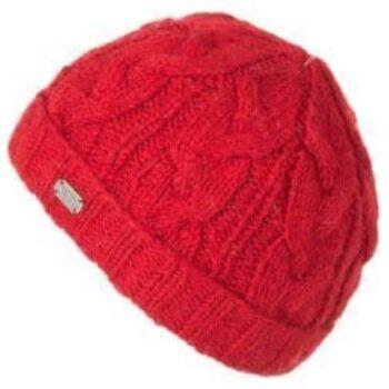 Kusan Turn up Beanie . 100% Wool. RED