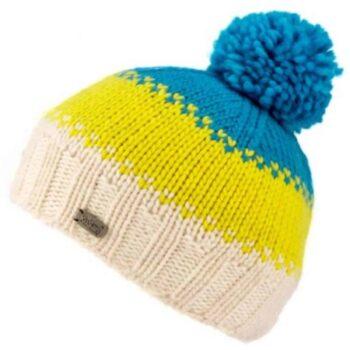 'Kusan' design 100% New Zealand Wool Bobble Hat. Moss knit