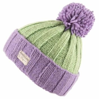 'Kusan' design 100% New Zealand Wool Bobble, lilac and mint