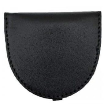 Men's Leather Coin Tray Purse