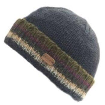 Mens Unisex Turn up Beanie Hat - Moody Blue
