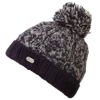 Navy Marl Cable turn Up hat