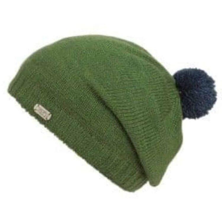 Slouch Pom Pom contrast hat
