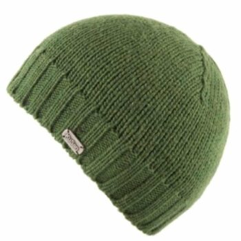Unisex Fisherman's Merino wool Beanie - Green