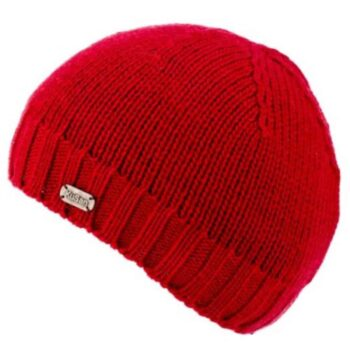 Unisex Fisherman's Merino wool Beanie - Red