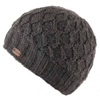 Unisex Wave Cable Brooklyn Beanie - Charcoal
