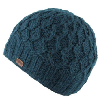 Unisex Wave Cable Brooklyn Beanie - Teal
