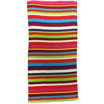 Colourful Stripes Beach Towel