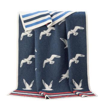 Cotton Seagull Blanket