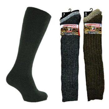 Lambswool Blend long length Men's Socks