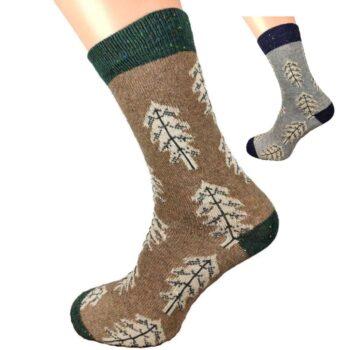 mens fir tree wool blend socks