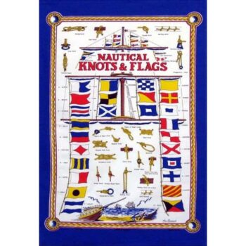 Nautical Knots & Flags Tea Towel
