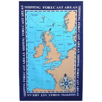 Shipping Forecast Areas Tea Towel